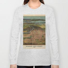 Map Of Newark 1916 Long Sleeve T-shirt