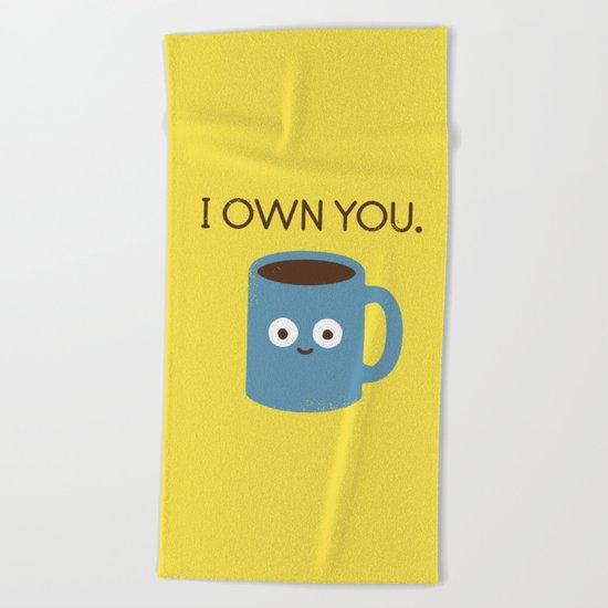 Coffee Talk Beach Towel