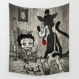 BETTY AND THE WOLF Wall Tapestry