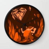 gnome Wall Clocks featuring Mana: Gnome by FirebornForm