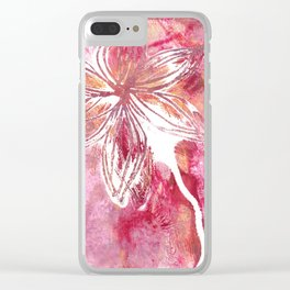 Lovely Lilly Clear iPhone Case