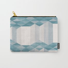Dusty Triangle columns - blue & pink - two levels Carry-All Pouch