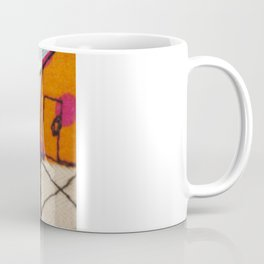 Embroidered Beach huts Coffee Mug