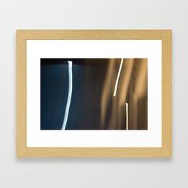 Light Trail Framed Art Print
