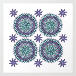 Purple Mandalas Art Print