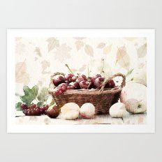 Played with fruits Art Print