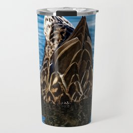 Mallard Duck Dabbling Travel Mug