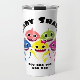 Baby Shark Family design in Adult & Kid Sizes Doo Doo Travel Mug