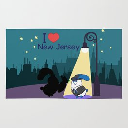 Ernest and Coraline | I love New Jersey Rug
