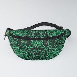 Black and green, abstract, geometric, creative, art Deco, modern Fanny Pack