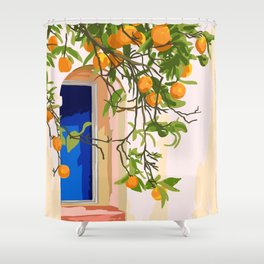 Wherever you go, go with all your heart #painting #illustration Shower Curtain