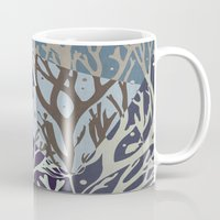 under the sea Mugs featuring Under the Sea - Abstract by Paula Belle Flores