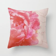 pink milk Throw Pillow