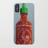 sriracha iPhone & iPod Cases featuring Sriracha Oil Painting by LVP _