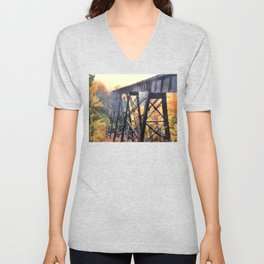 Upper Peninsula Train Trestle Unisex V-Neck
