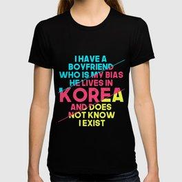 Korean Boyfriend K-Pop Bias T-shirt