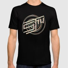 Touchy Vibrations. Mens Fitted Tee Black MEDIUM