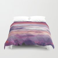 oakland Duvet Covers featuring Lines  by Last Call