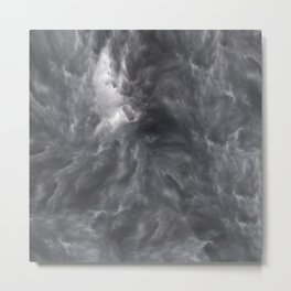 Stormy cloud abstract art Metal Print