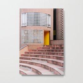 Gallaratese ᝢ Milano Italy travel photography art ᝢ pink yellow architectural photo print Europe Metal Print