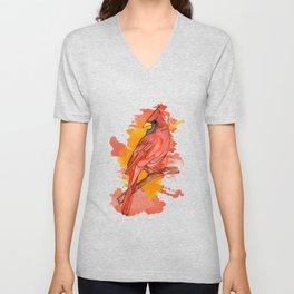 Red cardinal Unisex V-Neck