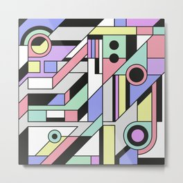 De Stijl Abstract Geometric Artwork 2 Metal Print