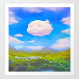 Cloudia Art Print