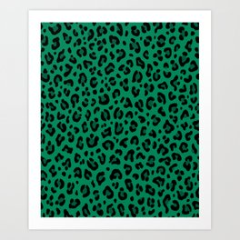LEOPARD PRINT in GREEN | Collection : Leopard spots – Punk Rock Animal Print Art Print