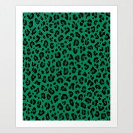 LEOPARD PRINT in GREEN | Collection : Leopard spots – Punk Rock Animal Print Art Print