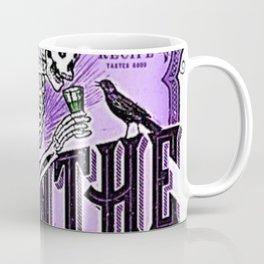 Vintage 1871 Purple Absinthe Liquor Skeleton Elixir Aperitif Cocktail Alcohol Advertisement Poster Coffee Mug
