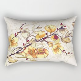 Dried branch with flowers Rectangular Pillow