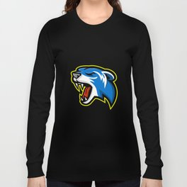 Angry Polecat Mascot Long Sleeve T-shirt