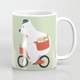 Polar bear postal express Coffee Mug