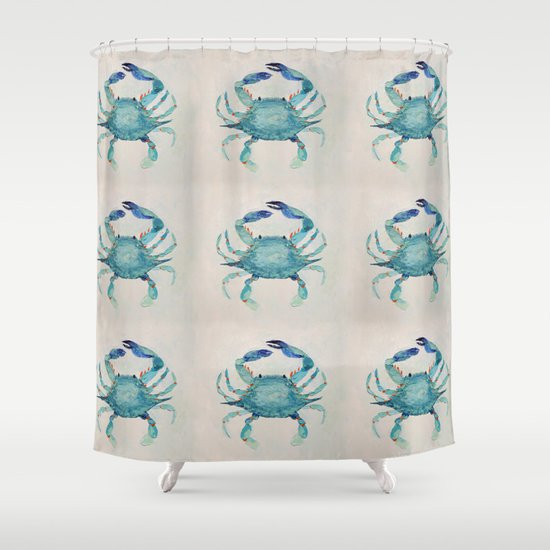 Superior Atlantic Blue Crab Shower Curtain