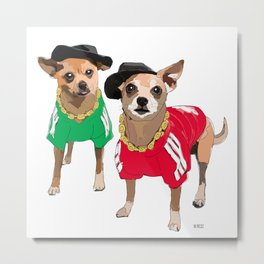 Chihuahua Dogs Run DMChi Metal Print