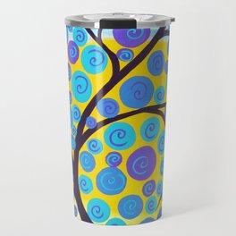 Aqua Tree of Life Travel Mug