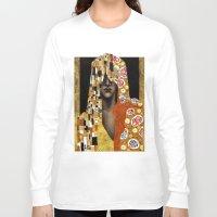 klimt Long Sleeve T-shirts featuring Klimt Me by Estúdio Marte