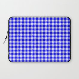 Gingham Blue and White Pattern Laptop Sleeve