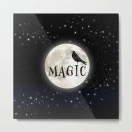 Enchanted Raven Moon Metal Print