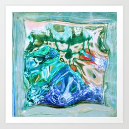 427 - Abstract glass design Art Print