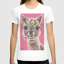 Alpaca Art, Alpaca Flower Crown T-shirt