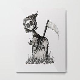 Little Grim Metal Print