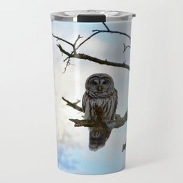 Magical Winter Owl Travel Mug