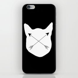 Inverted Cat Arrows iPhone Skin