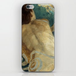 Backlite Nude Figure Oil painting Turquoise of Woman iPhone Skin