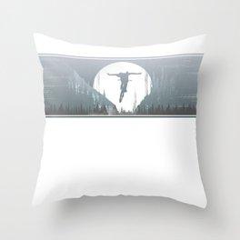 No Hander Line Throw Pillow