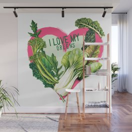 I Love My Greens Wall Mural