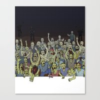 zombies Canvas Prints featuring Zombies!!! by Justin McElroy