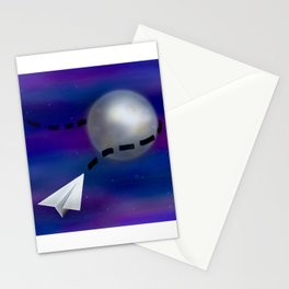 Cosmic Paper Flight Stationery Cards