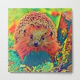 AnimalColor_Hedgehog_002_by_JAMColors Metal Print